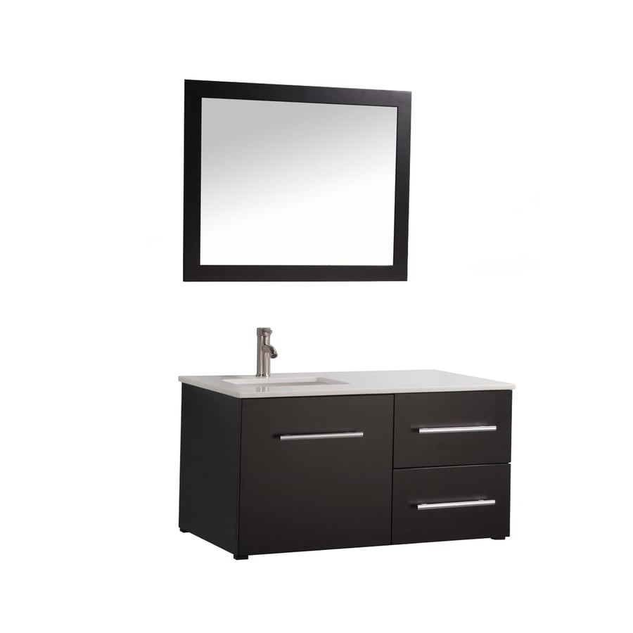MTD Vanities Espresso Undermount Single Sink Bathroom Vanity with Engineered Stone Top (Common: 41-in x 18-in; Actual: 41-in x 18.1-in)