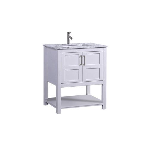 MTD Vanities 24-in White Single Sink Bathroom Vanity with ...