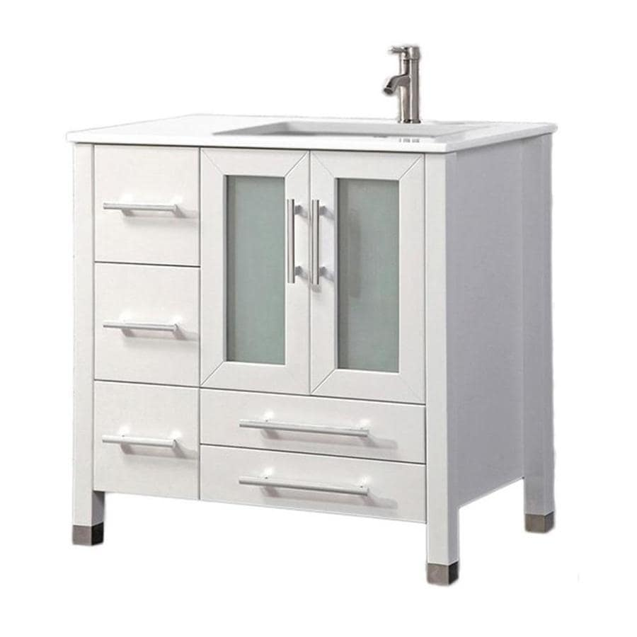 white single bathroom vanity shop mtd vanities white single sink vanity with white 21590