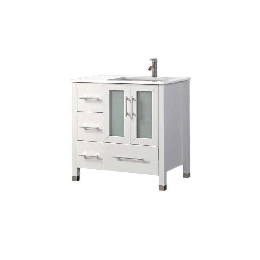 mtd vanities sweden white 36 2 in undermount single sink oak bathroom