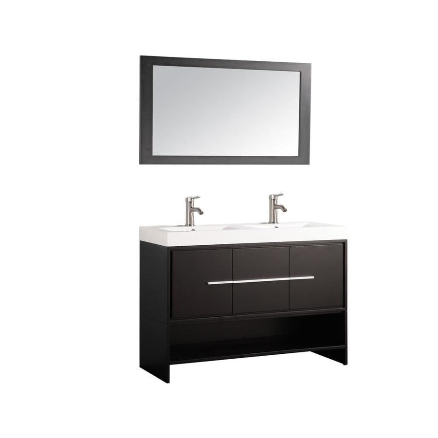 MTD Vanities Espresso Integral Single Sink Bathroom Vanity with Acrylic Top (Common: 48-in x 18-in; Actual: 48-in x 18-in)