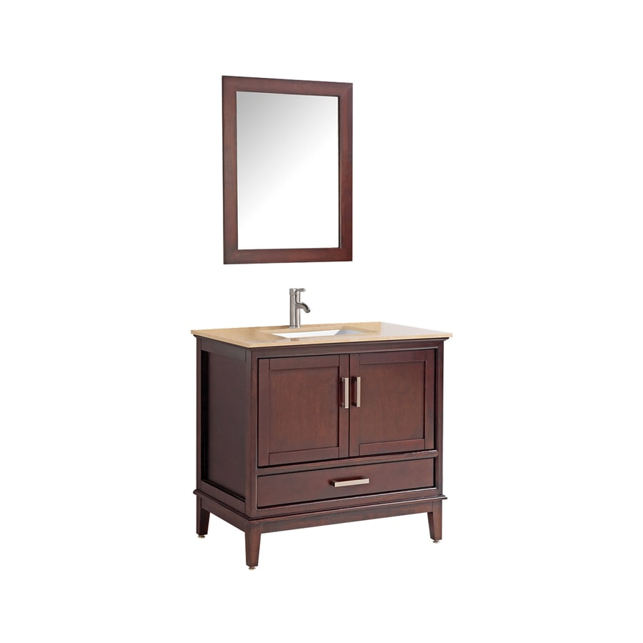 Shop mtd vanities tobacco undermount single sink bathroom vanity with quartz top common 30 in Stores to buy bathroom vanities