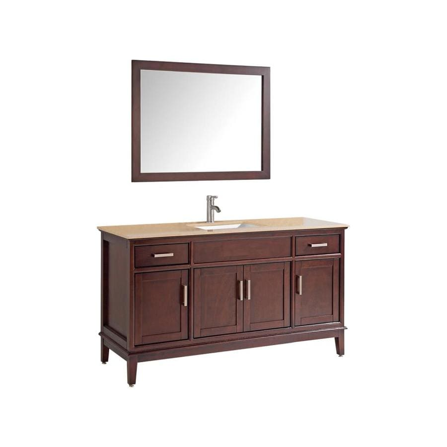MTD Vanities Tobacco Undermount Single Sink Bathroom Vanity with Quartz Top (Common: 48-in x 22-in; Actual: 48-in x 22-in)