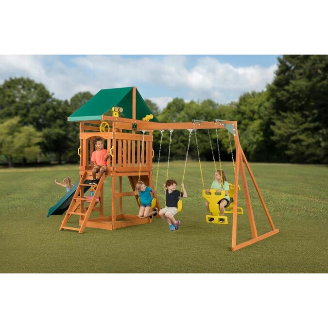 Creative Cedar Designs Sky View Wooden Playset Residential ...