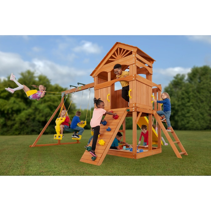 Creative Cedar Designs Timber Valley Wooden Playset- Multi ...