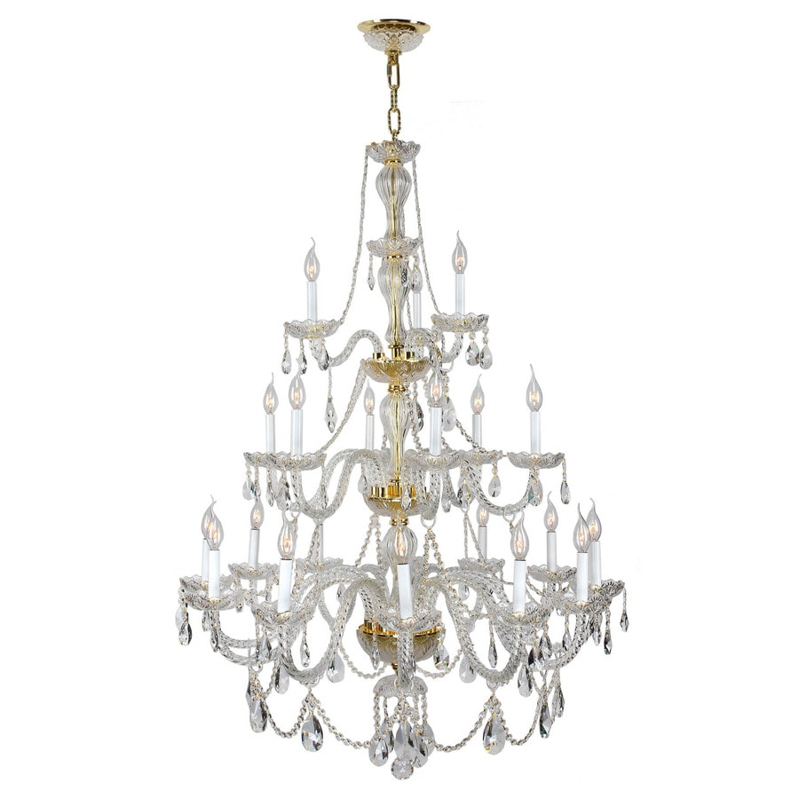 Worldwide Lighting Provence 38-in 21-Light Candle Chandelier