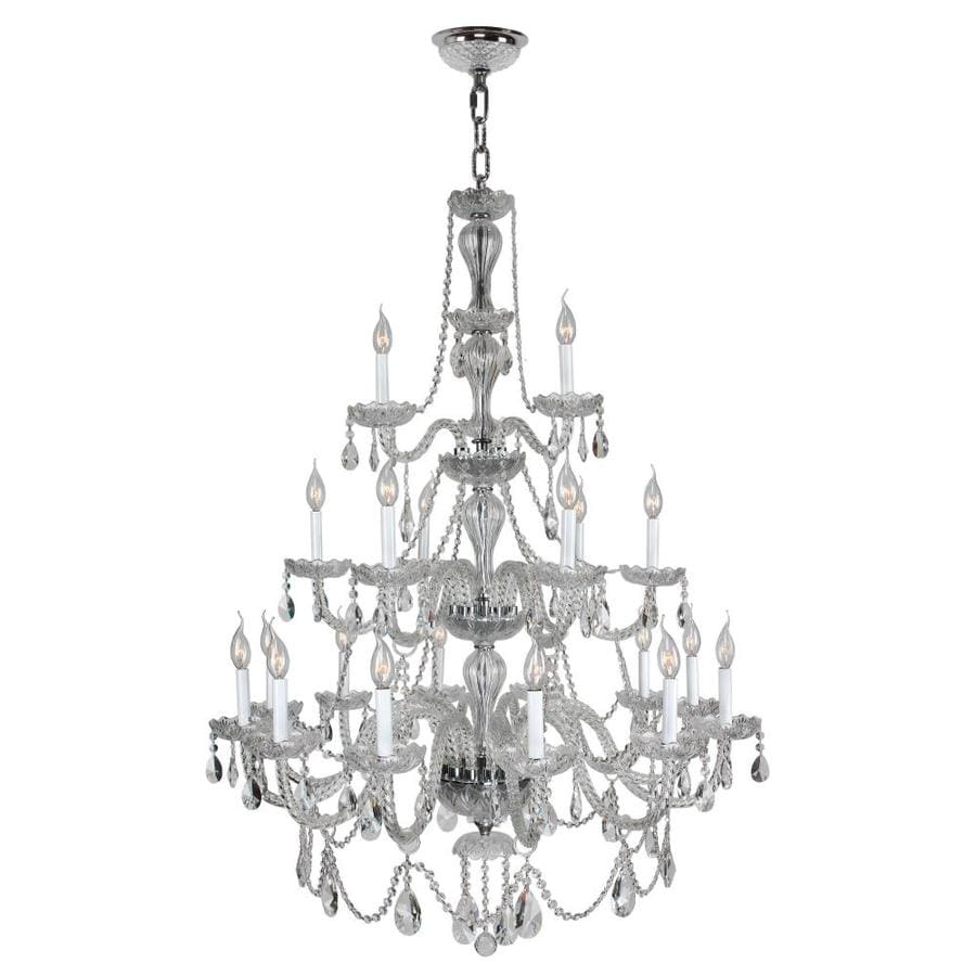 Worldwide Lighting Provence 38-in 21-Light Crystal Candle Chandelier