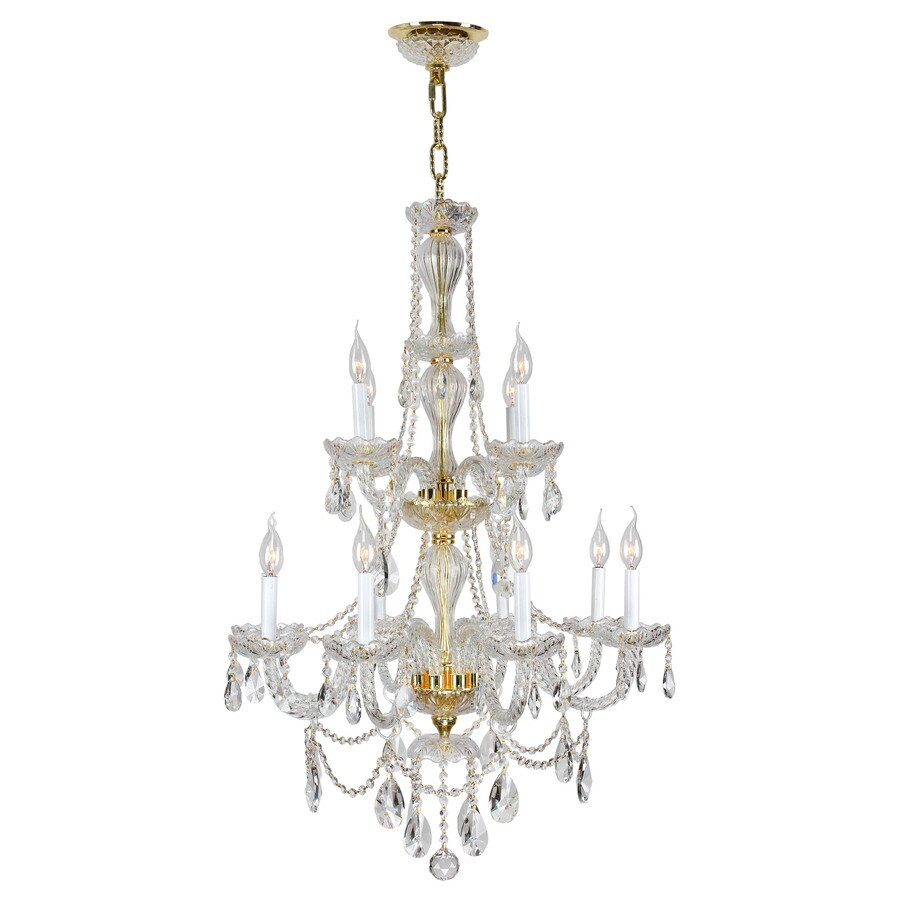 Shop worldwide lighting provence 28 0 in 12 light crystal Crystal candle chandelier