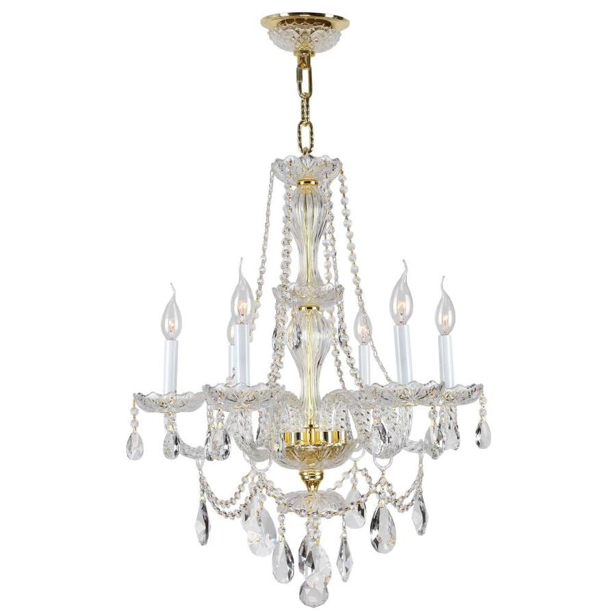 Shop Worldwide Lighting Provence 23 In 6 Light Polished