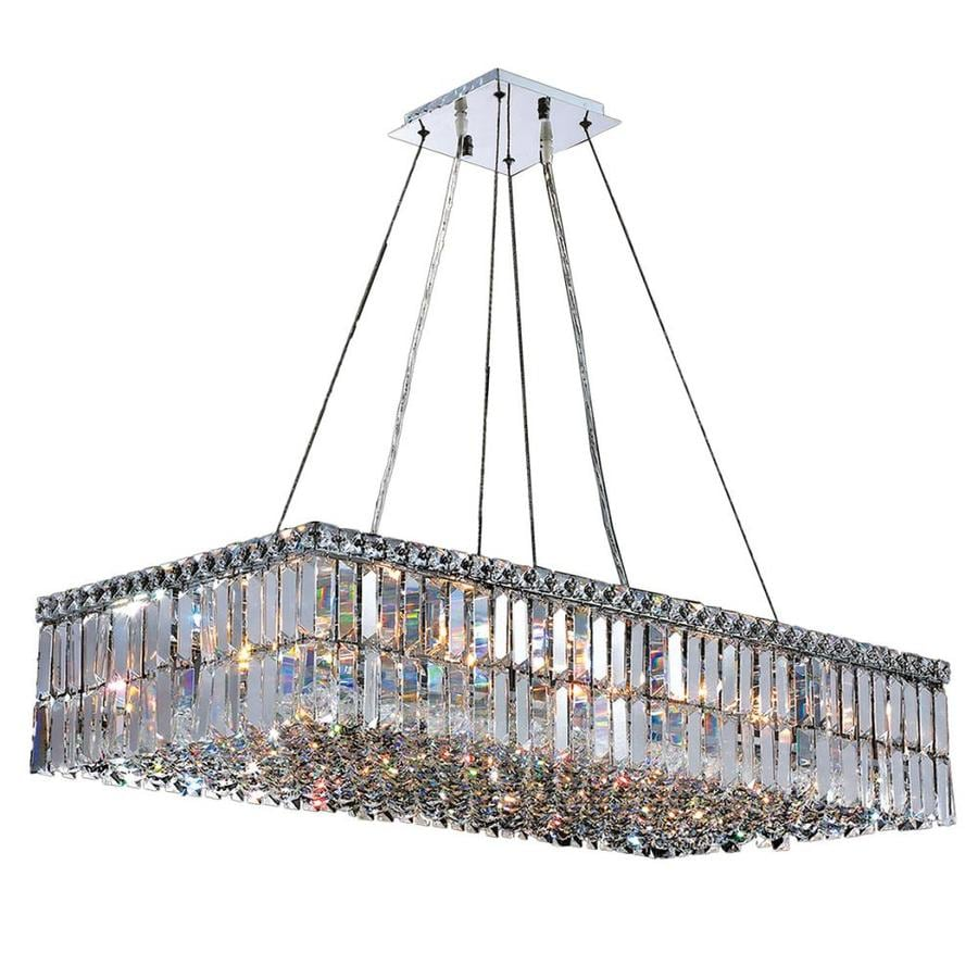 Worldwide Lighting Cascade 36 In 16 Light Polished Chrome Crystal Candle Chandelier