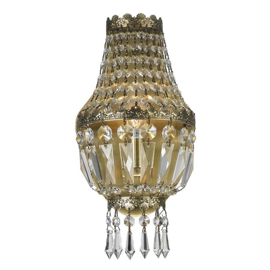 Worldwide Lighting Maria Theresa 6-in W 1-Light Bronze Crystal Ambient Wall Sconce