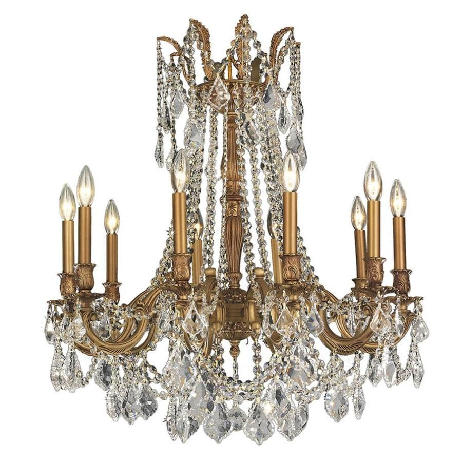 Shop worldwide lighting windsor 28 in 10 light french gold crystal worldwide lighting windsor 28 in 10 light french gold crystal candle chandelier arubaitofo Gallery