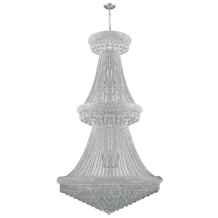 Worldwide Lighting Empire 42-in 38-Light Polished Chrome Crystal Crystal Empire Chandelier