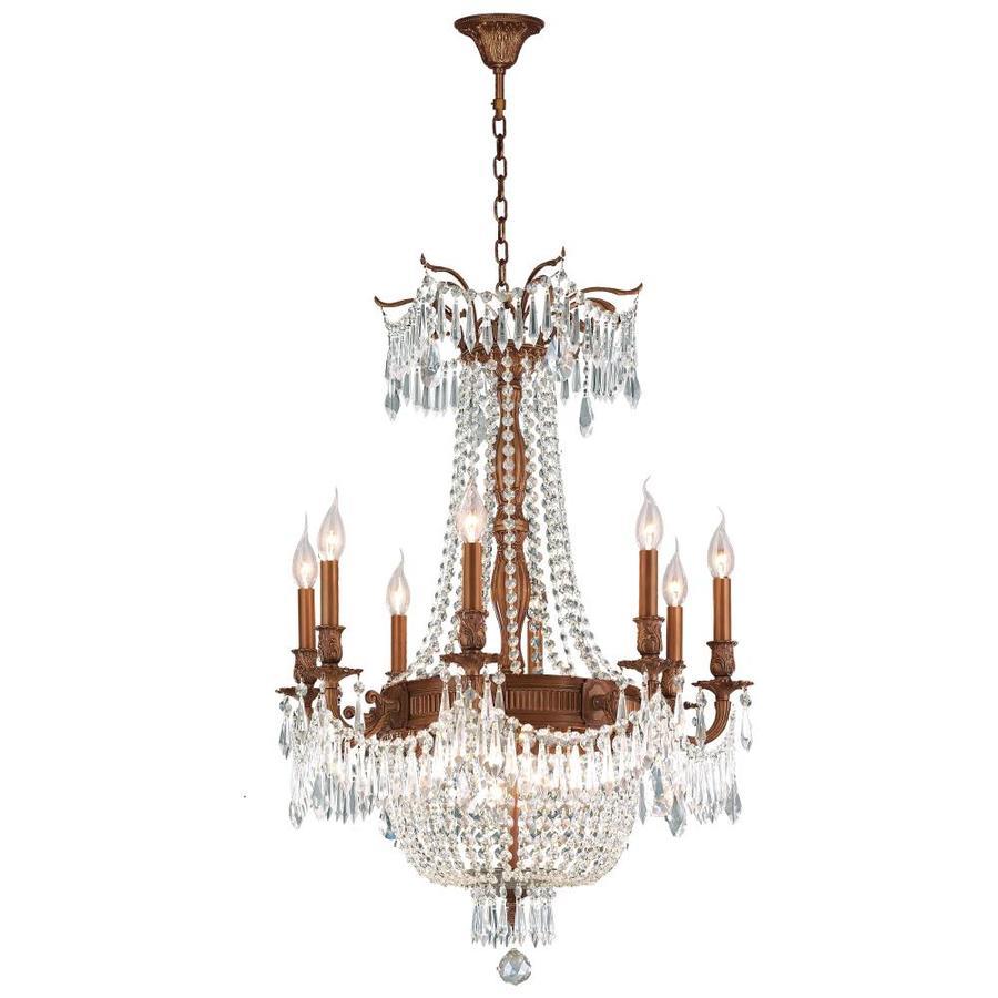 Shop worldwide lighting w inter 24 in 12 light french gold crystal worldwide lighting w inter 24 in 12 light french gold crystal candle chandelier arubaitofo Gallery
