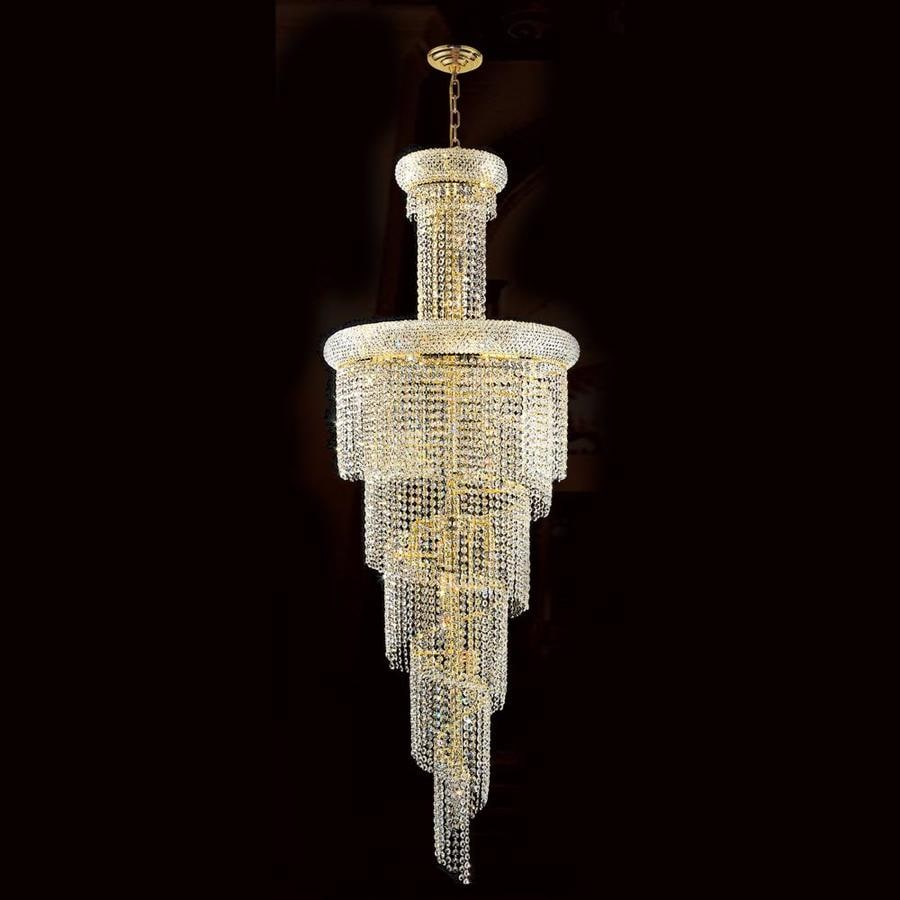 Worldwide Lighting Empire 22-in 22-Light Polished Gold Crystal Crystal Empire Chandelier