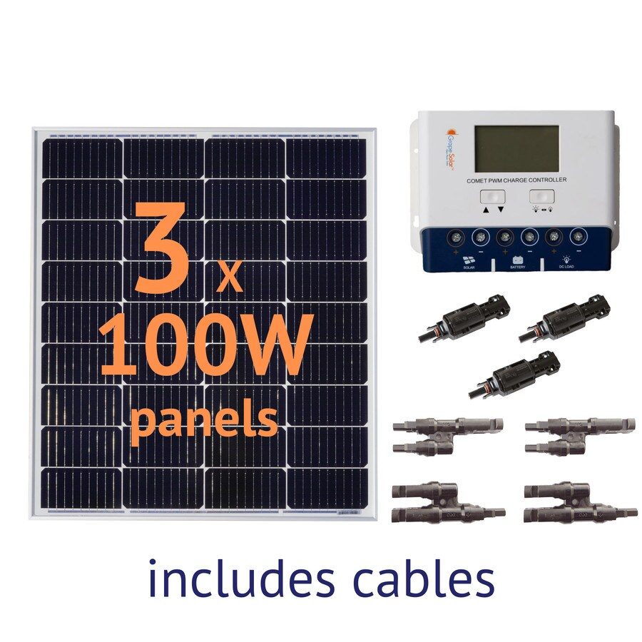 Grape Solar 0.3-kW Off-Grid Solar Electric Power Kit