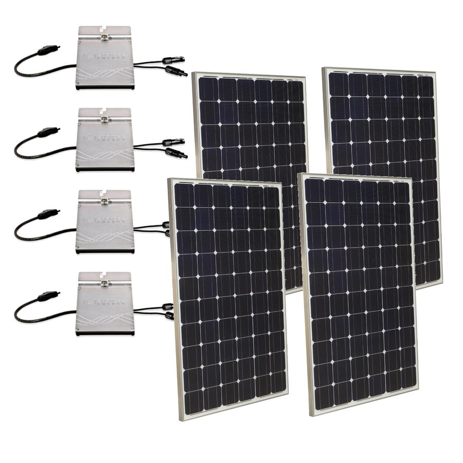 Shop Grape Solar 106 Kilowatt Grid Tie Electric Power Kit At Microinverter Panel System Design Electronic Products