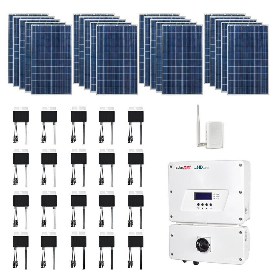 Shop Grape Solar 53 Kilowatt Grid Tie Electric Power Kit At Wiring Panels To Inverter