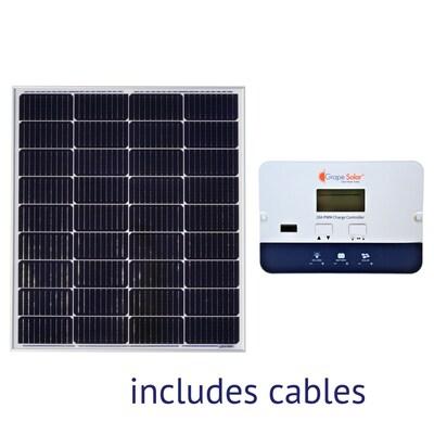 Grape Solar Off-Grid Power Kits 12-Volt Portable Solar Power