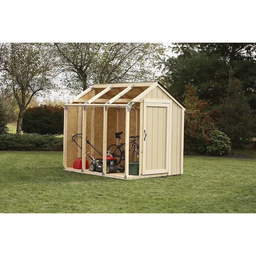 Shop hopkins 8 ft x 7 ft metal storage shed expansion kit for Outdoor garden shed