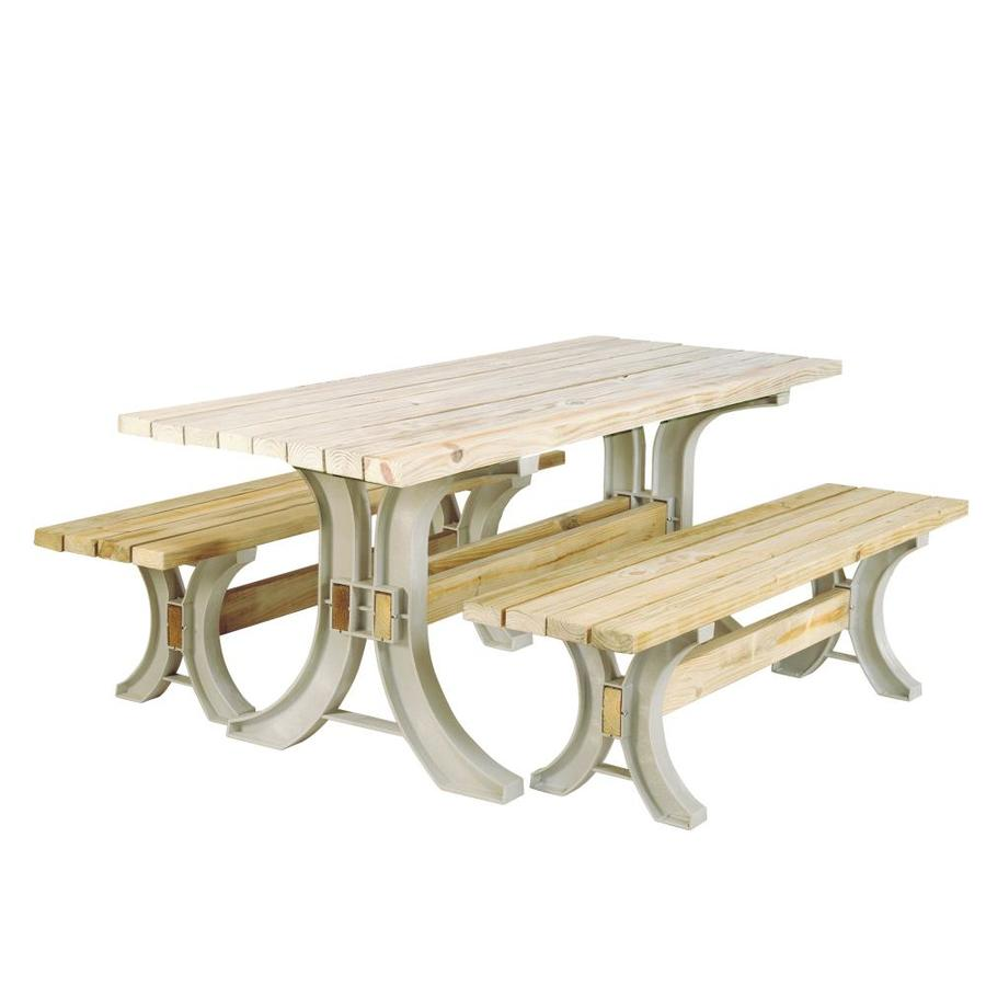 Shop 2x4basics Sand Polyresin Picnic Table Brackets at Lowes.com