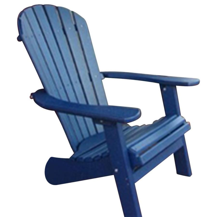 Phat Tommy Plastic Stationary Adirondack Chair With Slat