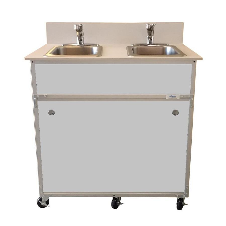 Shop MONSAM Gray Double-Basin Stainless Steel Portable