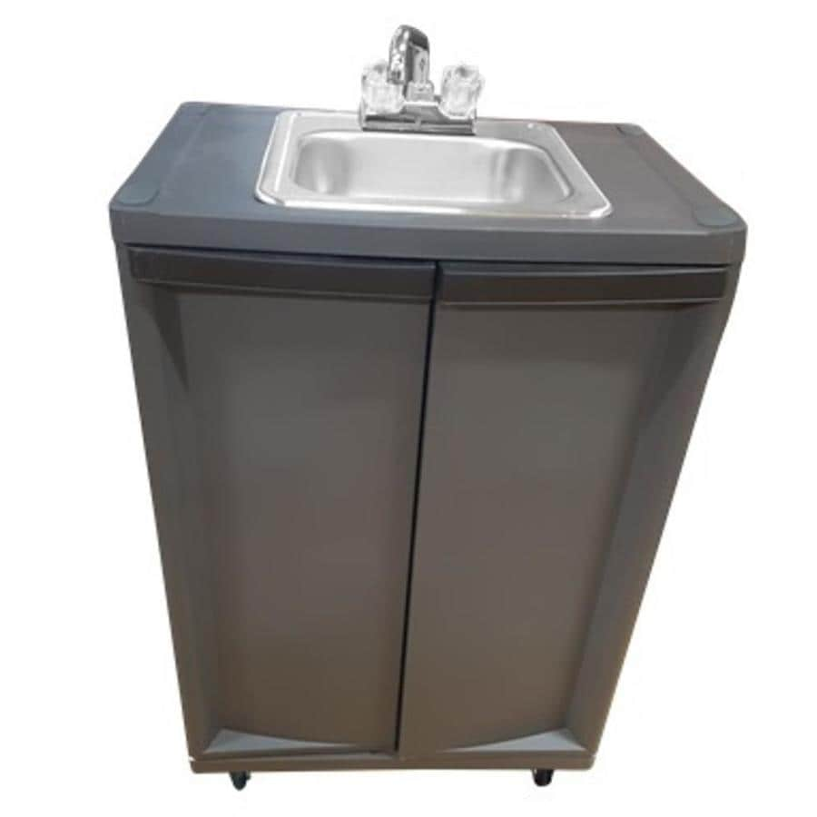 Beau MONSAM Gray Single Basin Stainless Steel Portable Sink