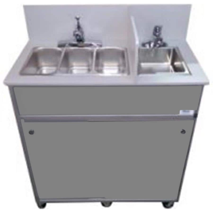 Portable Stainless Steel Sink : ... MONSAM Gray Quadruple-Basin Stainless Steel Portable Sink at Lowes.com