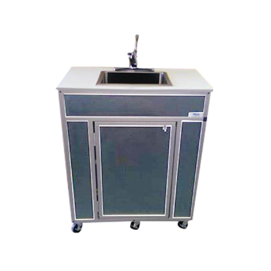 MONSAM Gray Single-Basin Stainless Steel Portable Sink