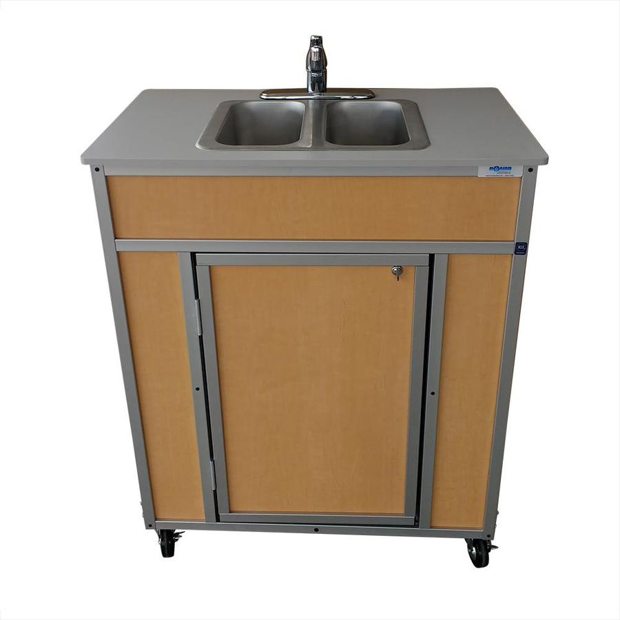 Kitchen Sink Sizes Lowes: Shop MONSAM Brown Double-Basin Stainless Steel Portable