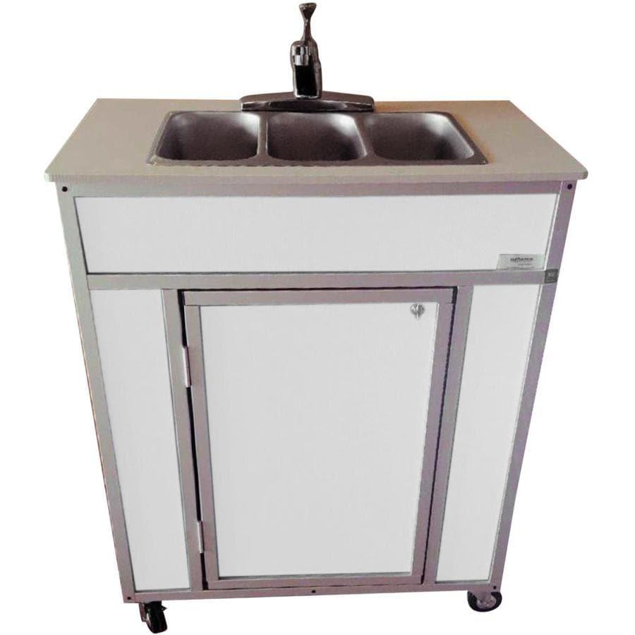Portable Stainless Steel Sink : ... MONSAM White Triple-Basin Stainless Steel Portable Sink at Lowes.com