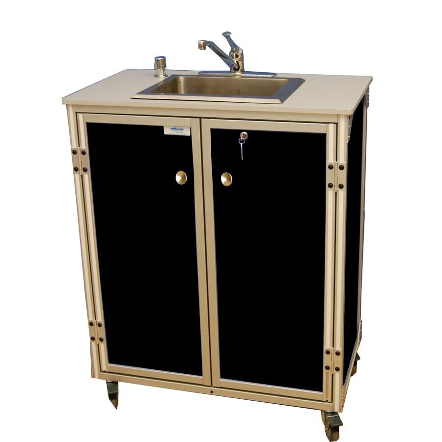 MONSAM Black Single-Basin Stainless Steel Portable Sink