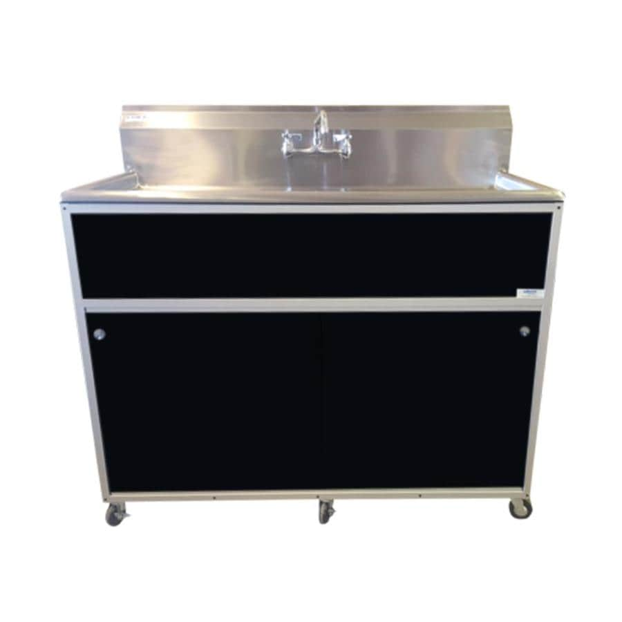 Portable Stainless Steel Sink : ... MONSAM Black Single-Basin Stainless Steel Portable Sink at Lowes.com