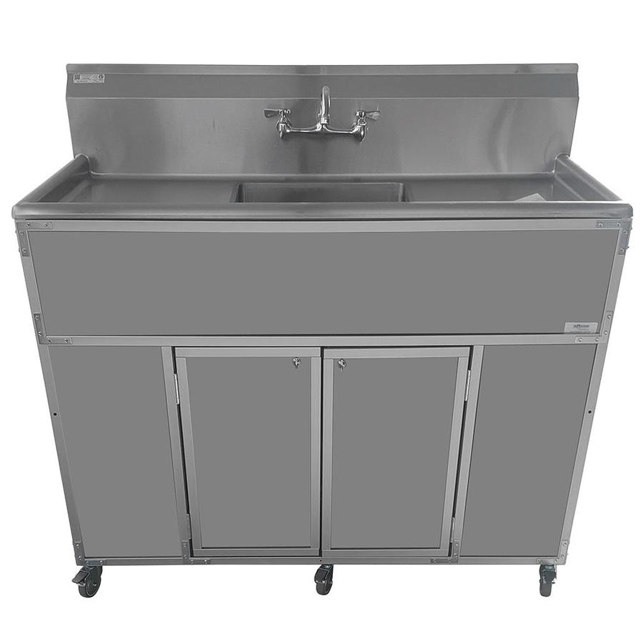 MONSAM Gray Single-Basin Stainless Steel Portable Sink