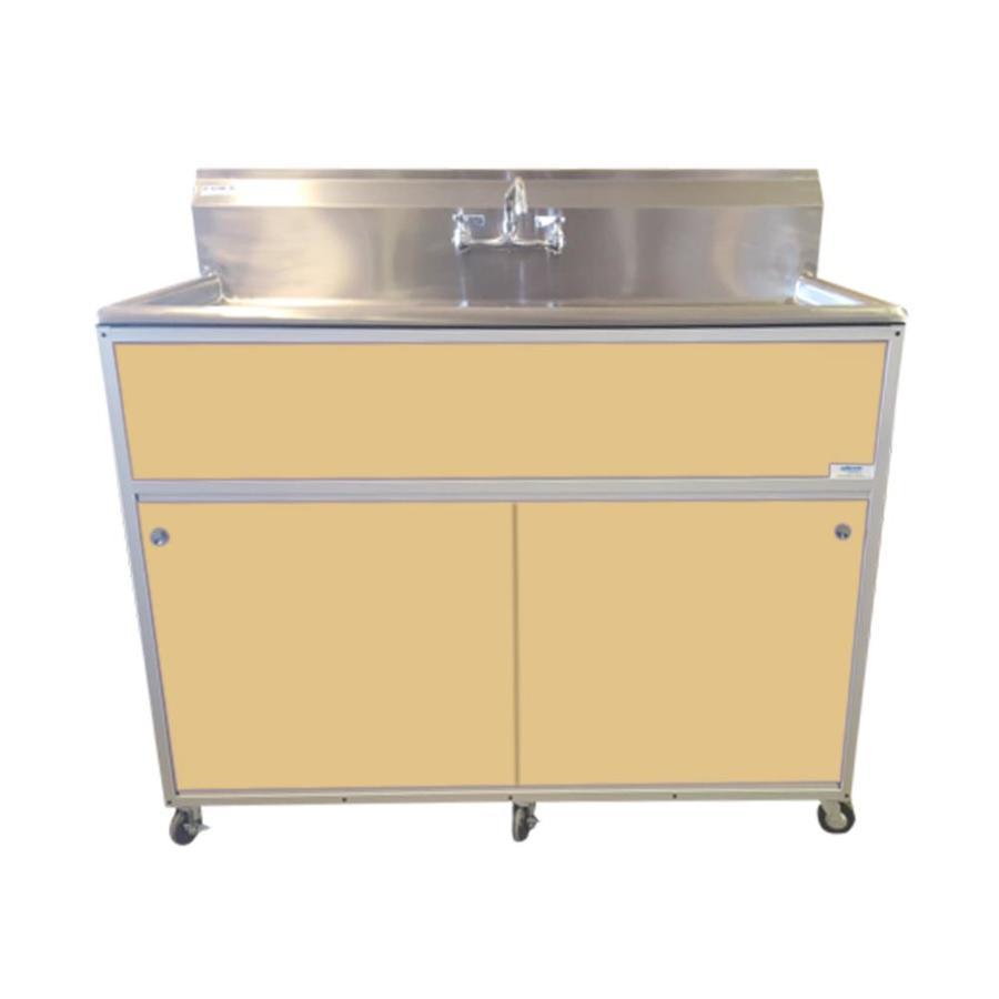 MONSAM Brown Single-Basin Stainless Steel Portable Sink