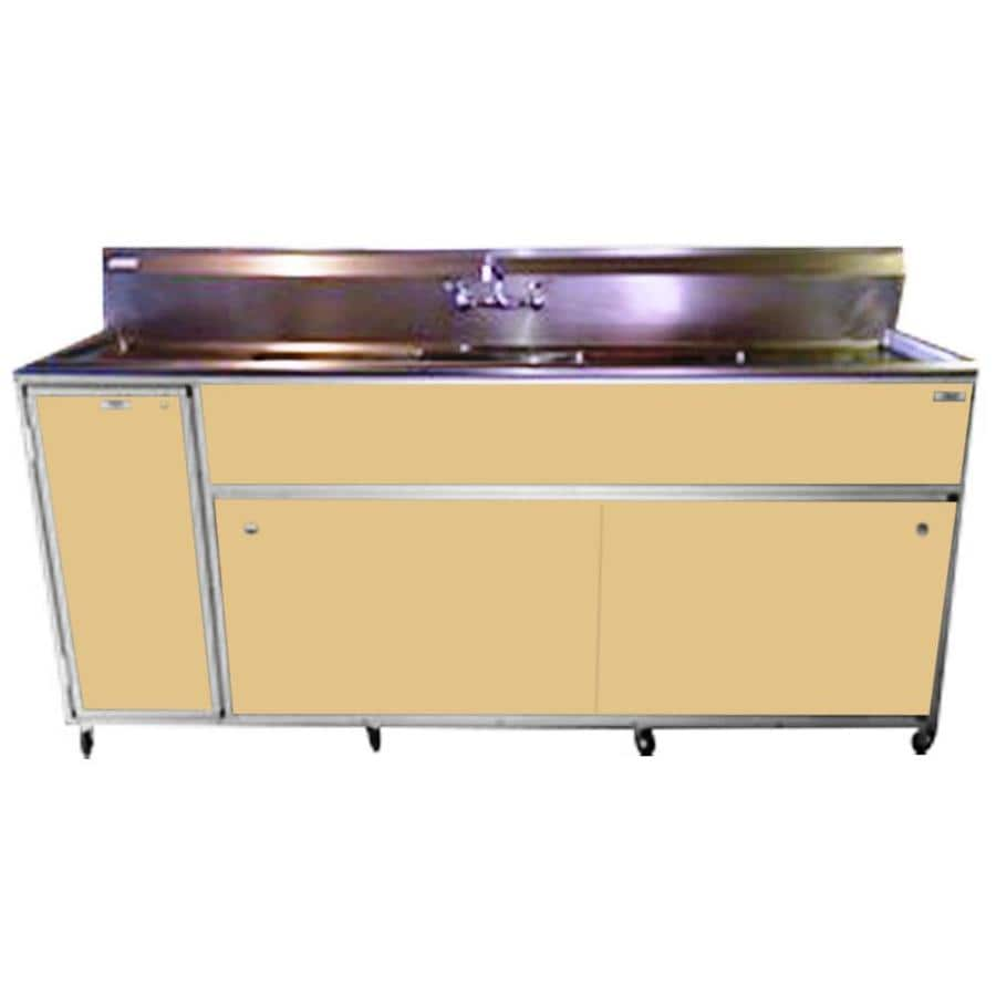 Portable Stainless Steel Sink : ... MONSAM Brown Triple-Basin Stainless Steel Portable Sink at Lowes.com