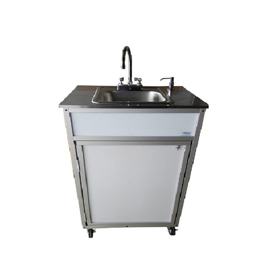 Shop monsam white single basin stainless steel portable - Portable dishwasher stainless steel exterior ...