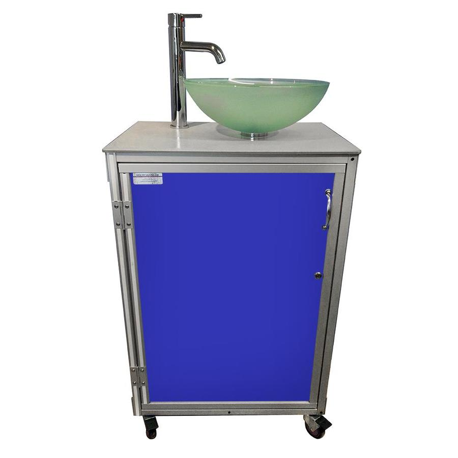 MONSAM Blue Single-Basin Stainless Steel Portable Sink
