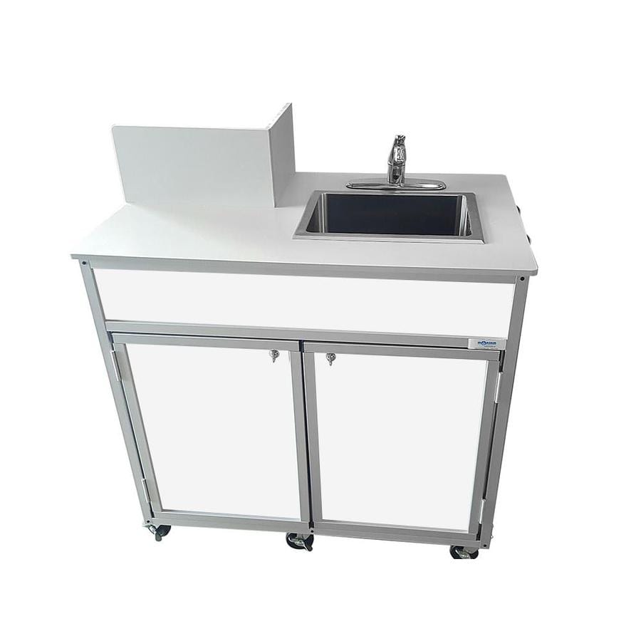 Portable Stainless Steel Sink : ... MONSAM White Single-Basin Stainless Steel Portable Sink at Lowes.com