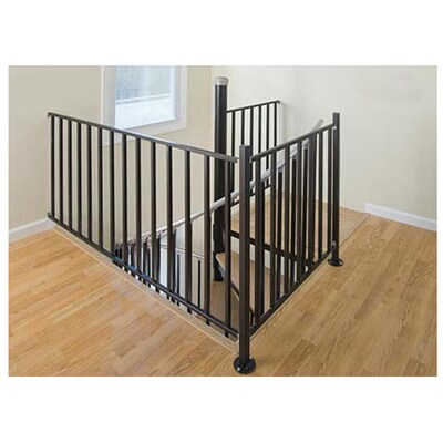 The Iron Ontario 3 Ft Black Painted Wrought Stair