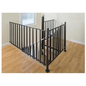 The Iron Shop Ontario 3 Ft Gray Painted Wrought Iron Stair Railing Kit