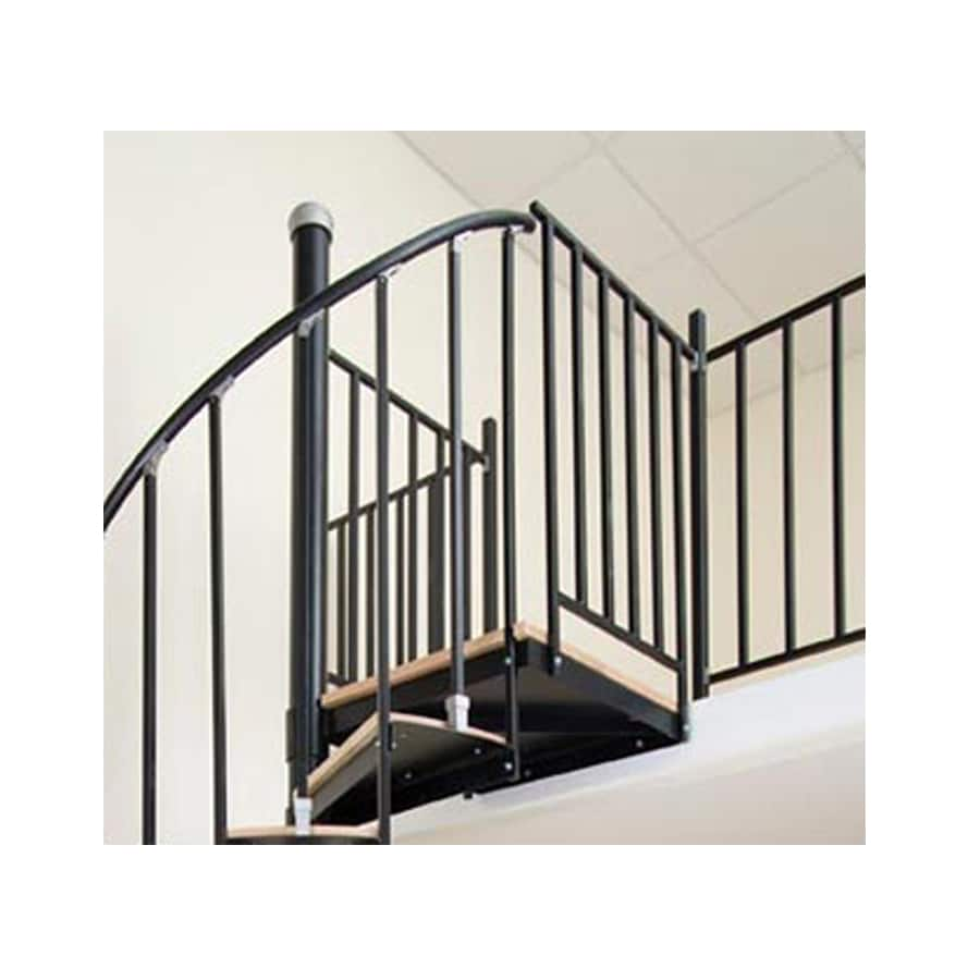 The Iron Ontario 1 75 Ft Gray Painted Wrought Stair Railing Kit
