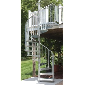 The Iron Shop Venice 60 In X 10.25 Ft Galvanized Spiral Staircase Kit