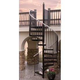 The Iron Shop Houston 42 In X 10.25 Ft White Spiral Staircase Kit