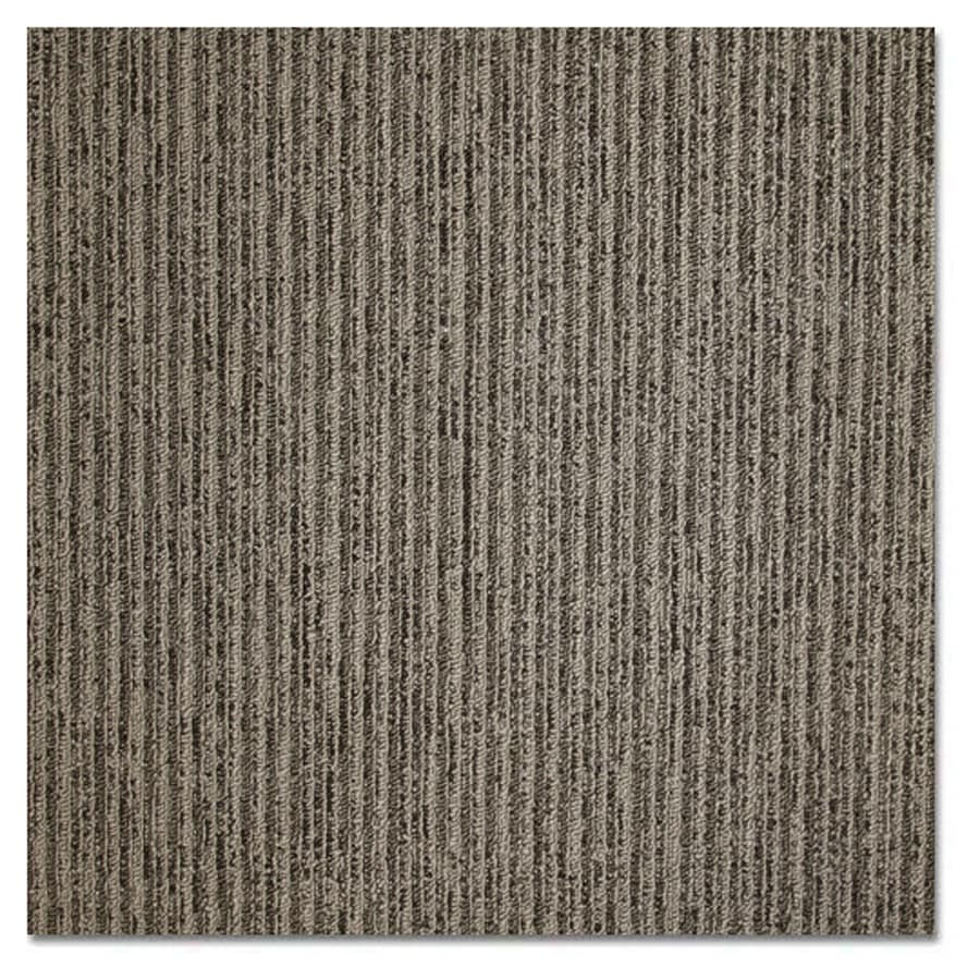 Shop Kraus 20-Pack 19.625-in x 19.625-in Charcoal Smoke Textured Glue-Down Carpet Tile at Lowes.com