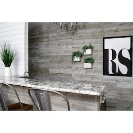 Stonewashed 5.375-in x 6-ft Slate Pine Wall Plank (Coverage Area: 2.75-sq ft)