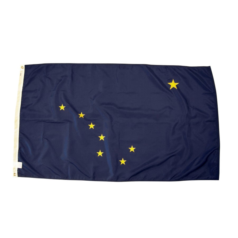 5-ft W x 3-ft H State Alaska State Flag