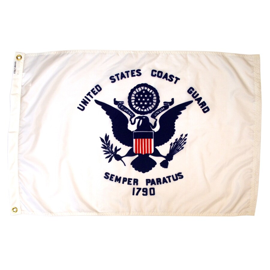 3-ft W x 2-ft H Coast Guard Flag