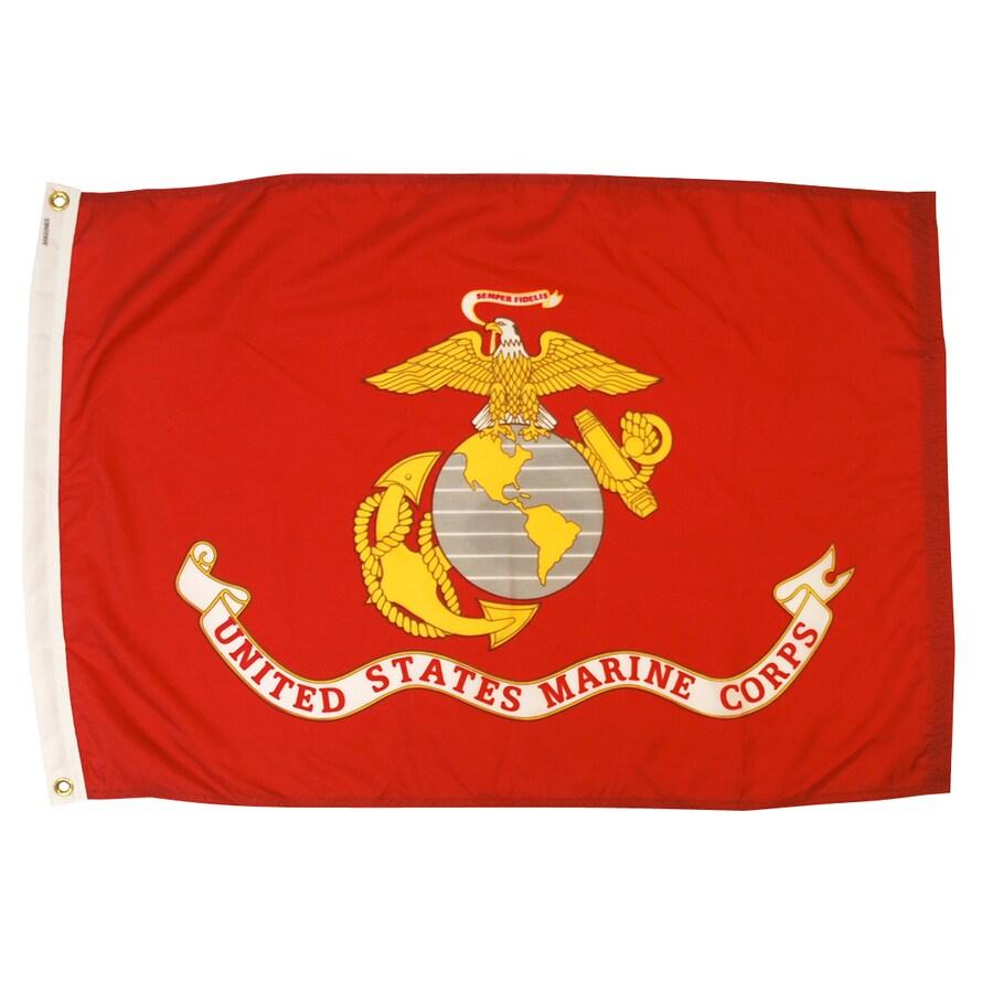 3-ft W x 2-ft H Marine Corps Flag